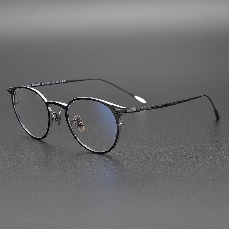 2019 pur titane rond lunettes cadre optique montures unisexe lunettes rétro lunettes Prescription hommes femmes myopie cadres