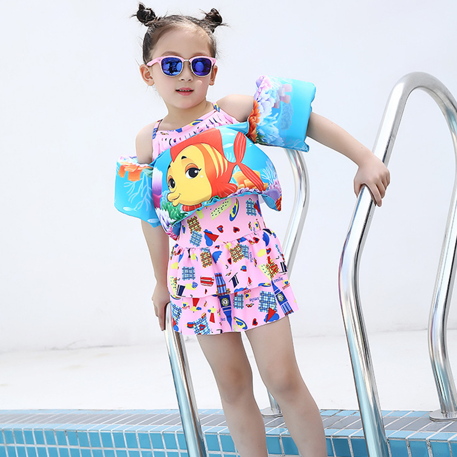 Vest, Learning, Swimming, And, Children, Girls