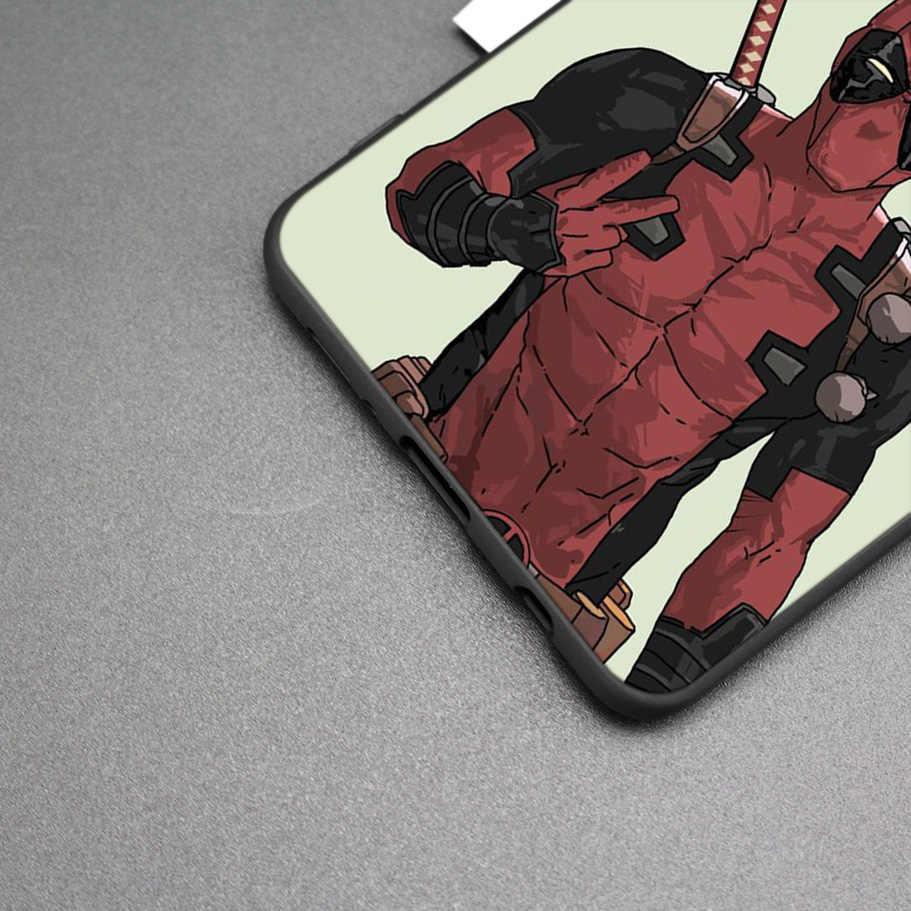 Marvel Deadpool negro funda de silicona para Samsung Galaxy M20 S10e S10 S9 M40 M30 M10 S8 Plus 5G S7 S6 borde cubierta Coque