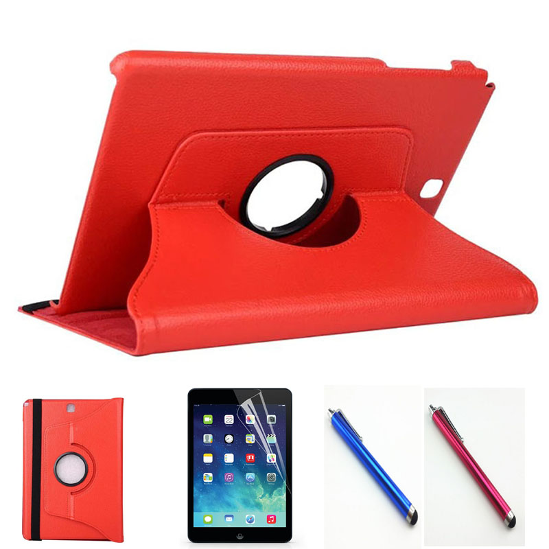 diva film s p a Stylus+protective film+360 Rotating PU Leather Case For Samsung Galaxy Tab A T350 T355 P350 P355 Cover high quality TabA 8 case