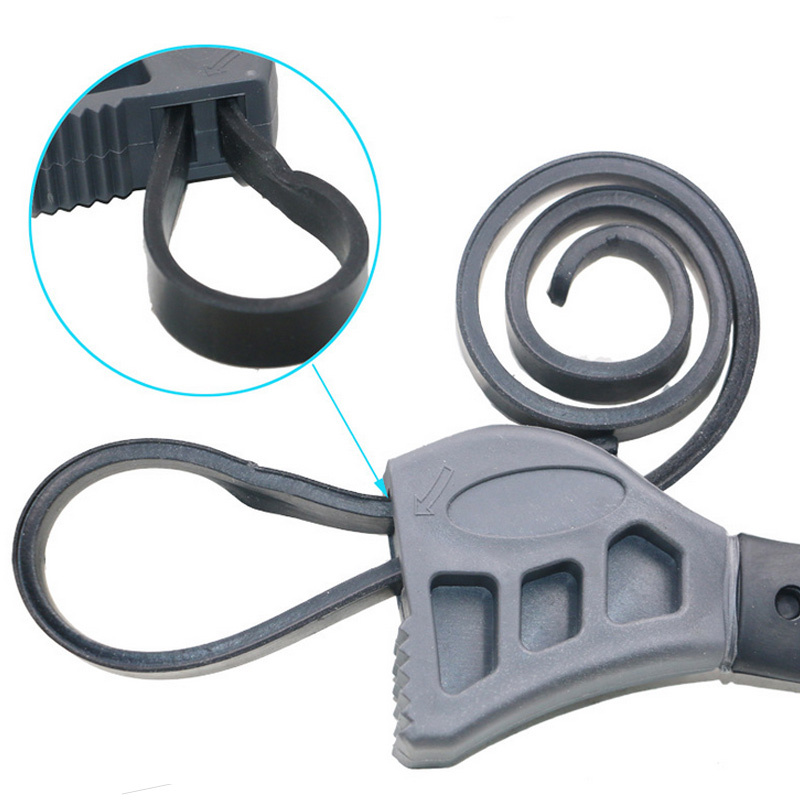 Newest Multi-function 50CM Rubber Belt Wrench Adjustable Bottle Opener Auto Oil Filter Car Repair Spanner Hand Tools --