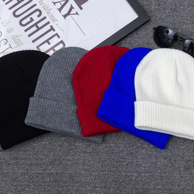 Simple Classic Forever Knit Hat For Women Girls Men Boys Embroidery Knitted Hats Female Spring Autumn Winter Beanies Caps Gorro fine three dimensional five star embroidery hat for women girls men boys knitted hats female autumn winter beanies skullies caps