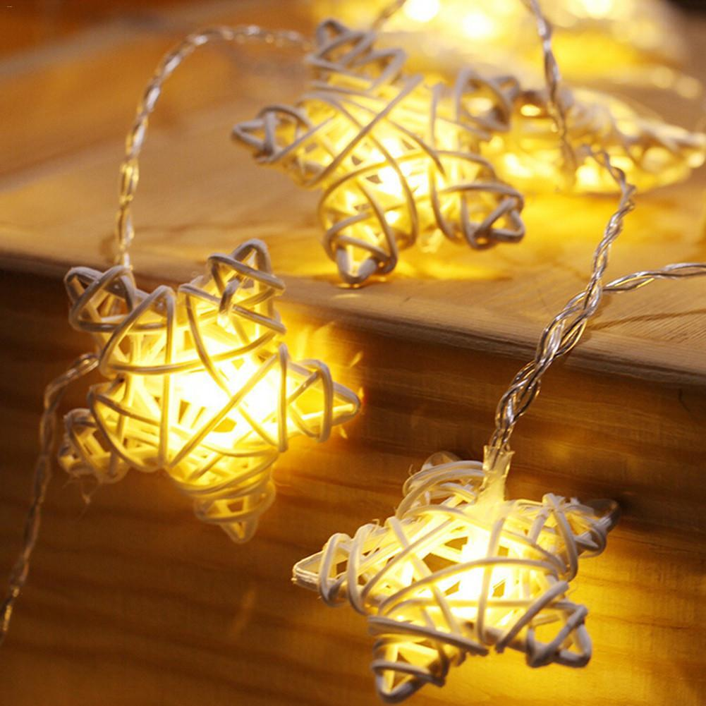LED Lantern Rattan Pentagram Star Light String Christmas Wedding Battery LED Fairy Light Party Decor Lamp Battery Box rotating violin music box wedding party decor