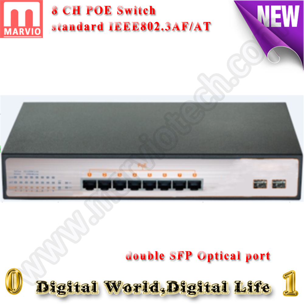 8CH Double Optical port POE Switch 10/100M 100m Distance 150W for IP Camera Poe CCTV System POE Power Supply  POE 8CH ip camera dedi irawan optical switch