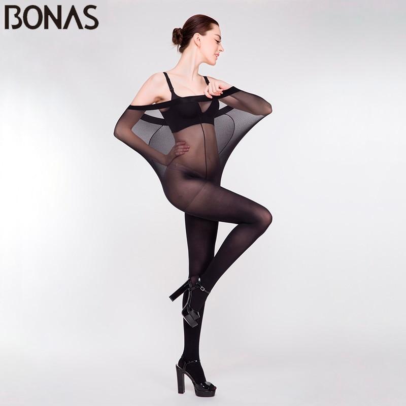 BONAS 3stk / parti 15D Sexet Ultra-tynd fløjlstights Kvinder Superelastisk Åndbar strømpebukse Dame Tåreværdig strømper Tæve