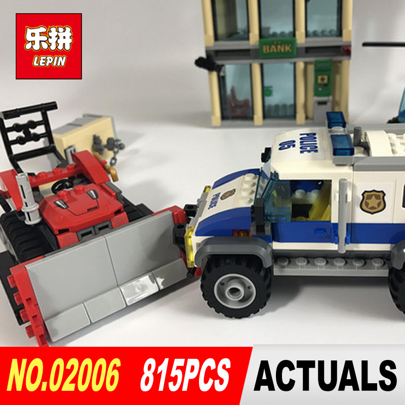 Lepin 02006 815Pcs City Series Prison island set Children Educational Building Blocks Bricks Boy Toys Model Gift 60130  lis lepin 02006 815pcs city series prison island set children educational building blocks bricks boy toys with 60130
