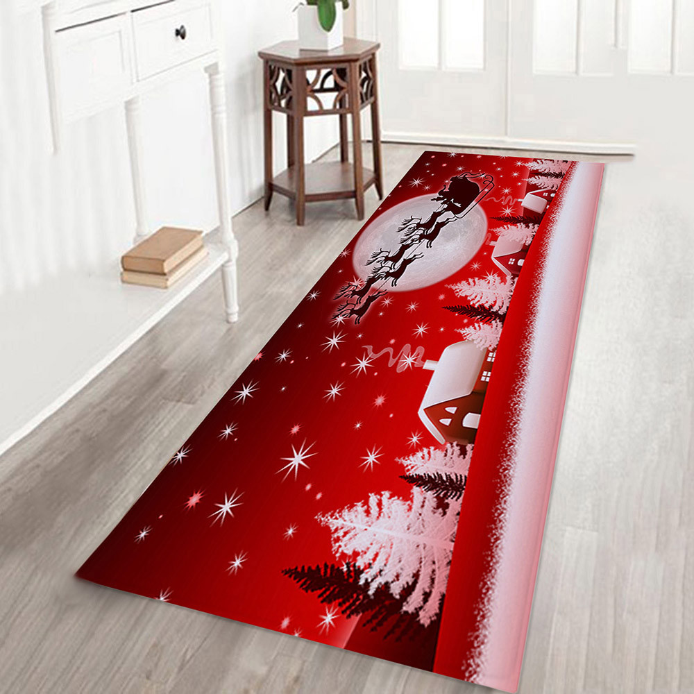 floor mat christmas decorations for home Red welcome mat ...