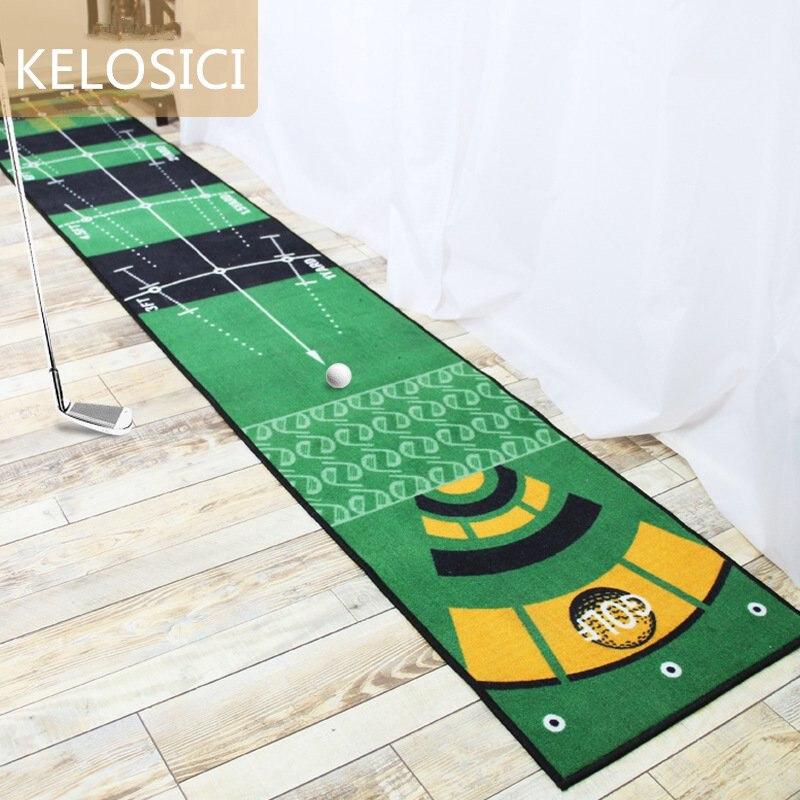 Accueil Golf pratique tapis 2.8 M Long vert Putter tapis gros pieds Golf formateur tapis artificiel gazon tapis Profess tapis décor à la maison
