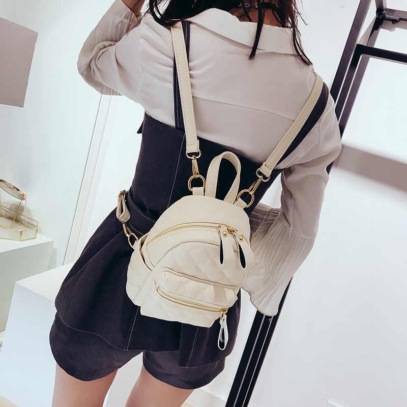 Mododiino Lingge рюкзаки из искусственной кожи женские 2018 новые модные маленькие дорожные сумки элегантные стильные школьные сумки Mochila Feminina DNV0409
