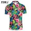 Forudesigns marca moderna camisa de polo de los hombres, moda max transpirable floral tela de polo para los hombres, masculino verano vogue polo shirts