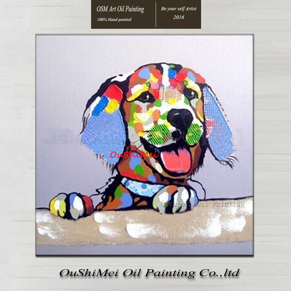 Online Shop Hand Painted Modern Oil Painting Abstract Animal ...