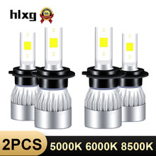 HLXG 12V LED Light Bulb H1 H3 9005 HB3 9006 HB4 5000K 6500K 8500K h11 lamp car led headlight luces led para auto h4 h7 mini led(China)