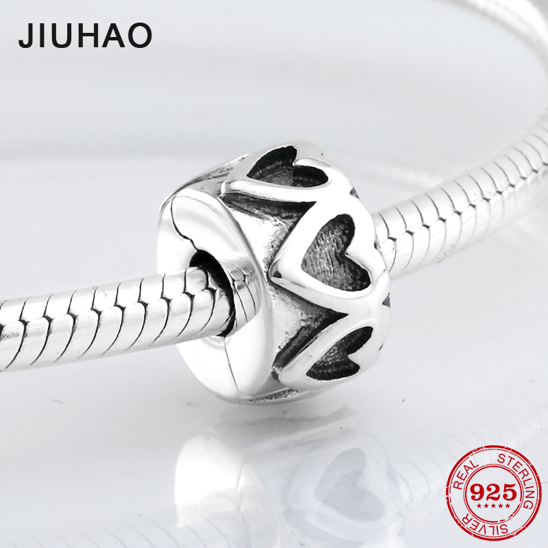 New 925 Sterling Silver charming round hollow clips Lock beads Fit Original Pandora Charm Bracelet Jewelry making ...