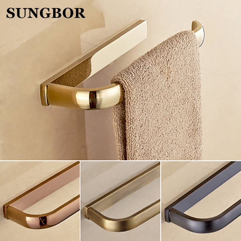 Towel Ring Towel Bar Lavatory Towel Rack Holder Solid Brass Black/Chrome/Gold/Rose Golden/Antique Bathroom Accessories HY-2205K
