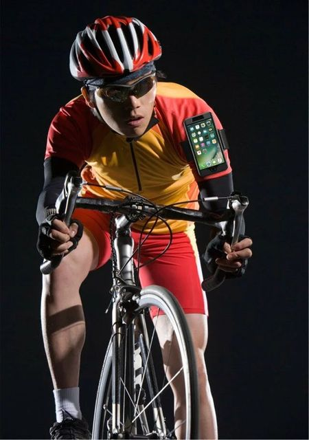 Heißer sport armband reflektierende einstellbare lauf radfahren klettern silikon fall für iphone 7