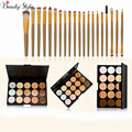 15 Colors Contour Face Cream Makeup Cosmetic Concealer Palette Make Up Kits + 20pcs Maquiagem Powder Foundation Brushes Sets