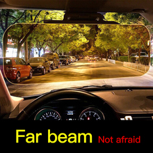 купить High Quality Day Night Anti-dazzle Car Sun Visor HD Dazzling Goggles Driving Mirror UV Fold Flip Down HD for Clear View Visor 5 по цене 675.66 рублей