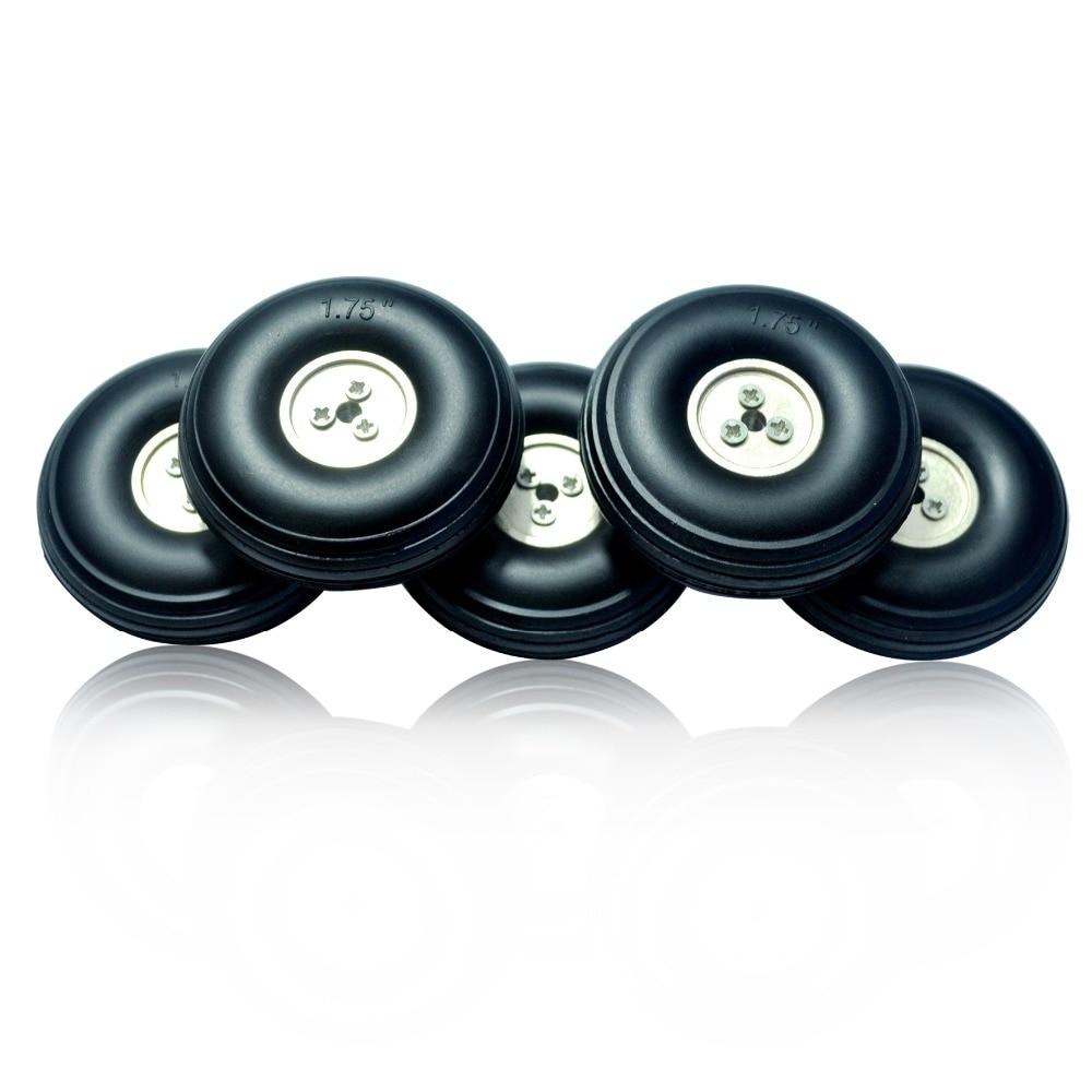 2PCS Rubber Tires Wheels PU Plastic Hub 38mm 45mm 76mm 83mm 89mm 95mm 102mm 114mm 127mm RC Parts For Airplanes Plane Model DIY