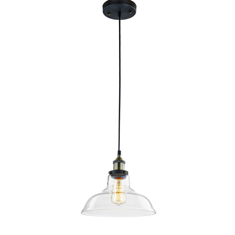 цена на E27 New Clear Glass Ceiling Hanging Light Retro Chandelier Pendant Lamp Lampshade With Adjustable Wire