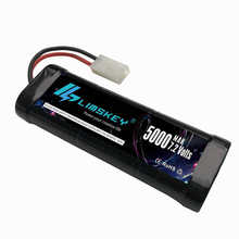Limskey RC Battery 7.2V 5000mAh Ni-MH de alta potencia con Tamiya Discharge Connector para RC Racing Cars Boat Aircraft