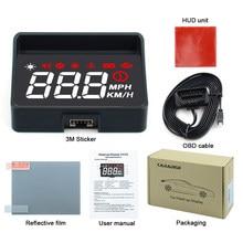 Quente!! cabeça do carro hud up display a100s obd2 ii euobd sistema de aviso excesso de velocidade projetor pára-brisa automático alarme tensão eletrônica