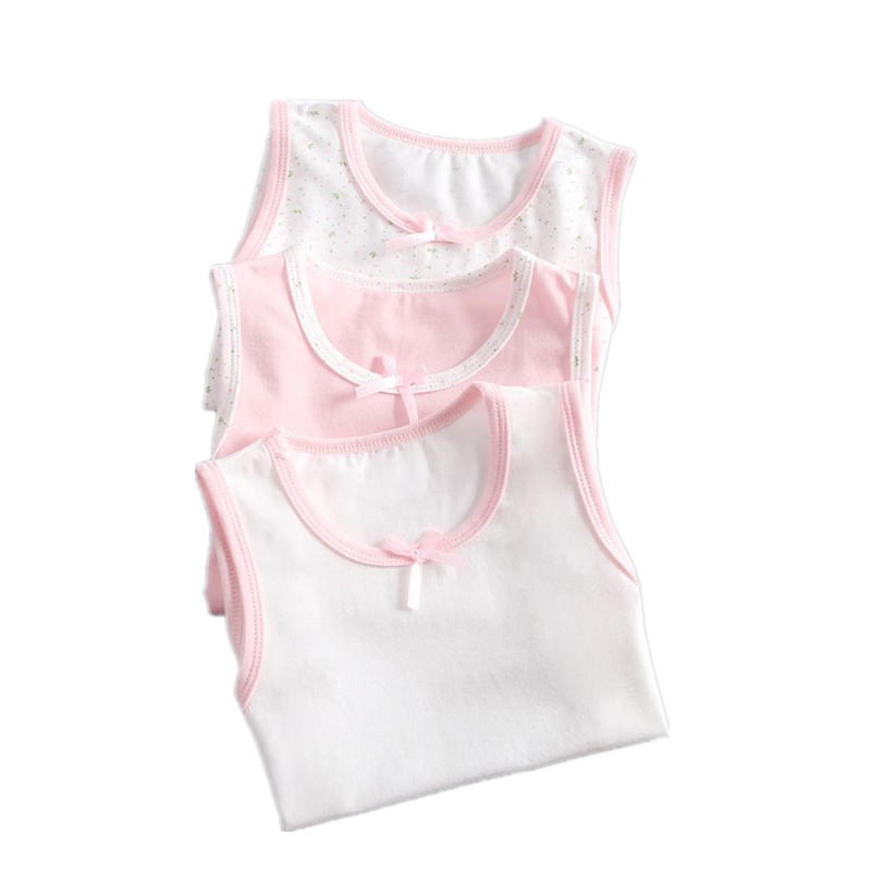 VIDMID Girl Sleeveless Tanks Vests Kids Cotton Lace Clothes Tanks Vests Baby Girls Tops Clothing For 3-10 Years Children 4095 01