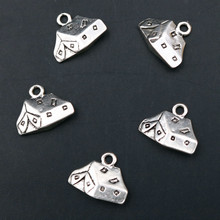 WKOUD Creative Metal Tent Pendant Camping Charm Desert Bedouins Charms Military Antique Silver A1609 10pcs