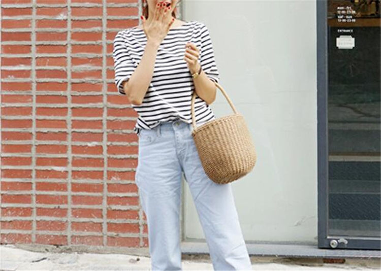 Beautiful Straw Bucket Bags for Summer 2021
