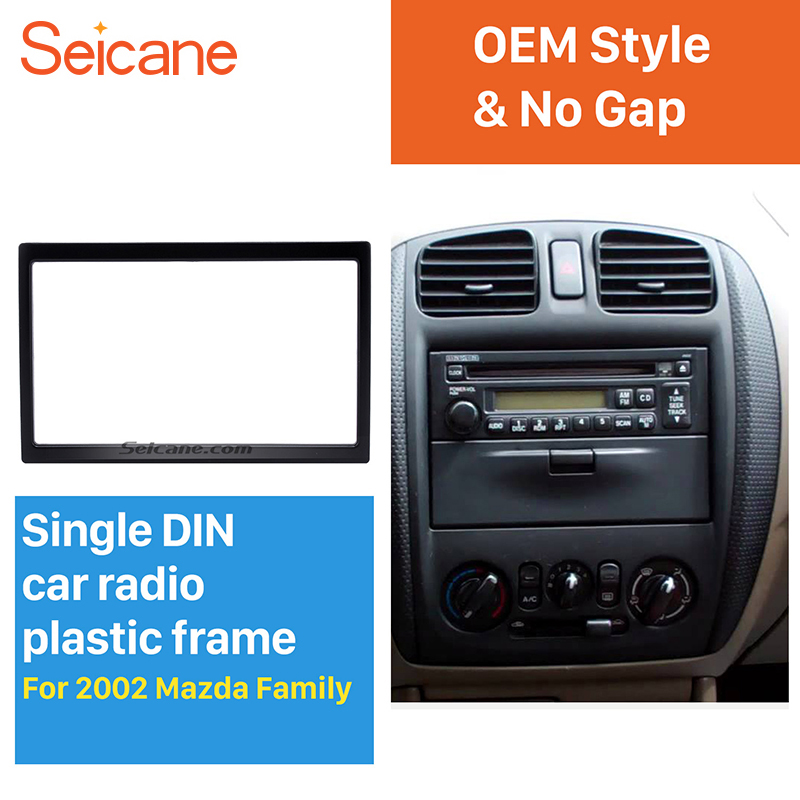 Seicane 2Din 173*98 mm fitting Dashboard Installation Trim Kit Car auto stereo Fascia for Mazda Family surround DVD player panel
