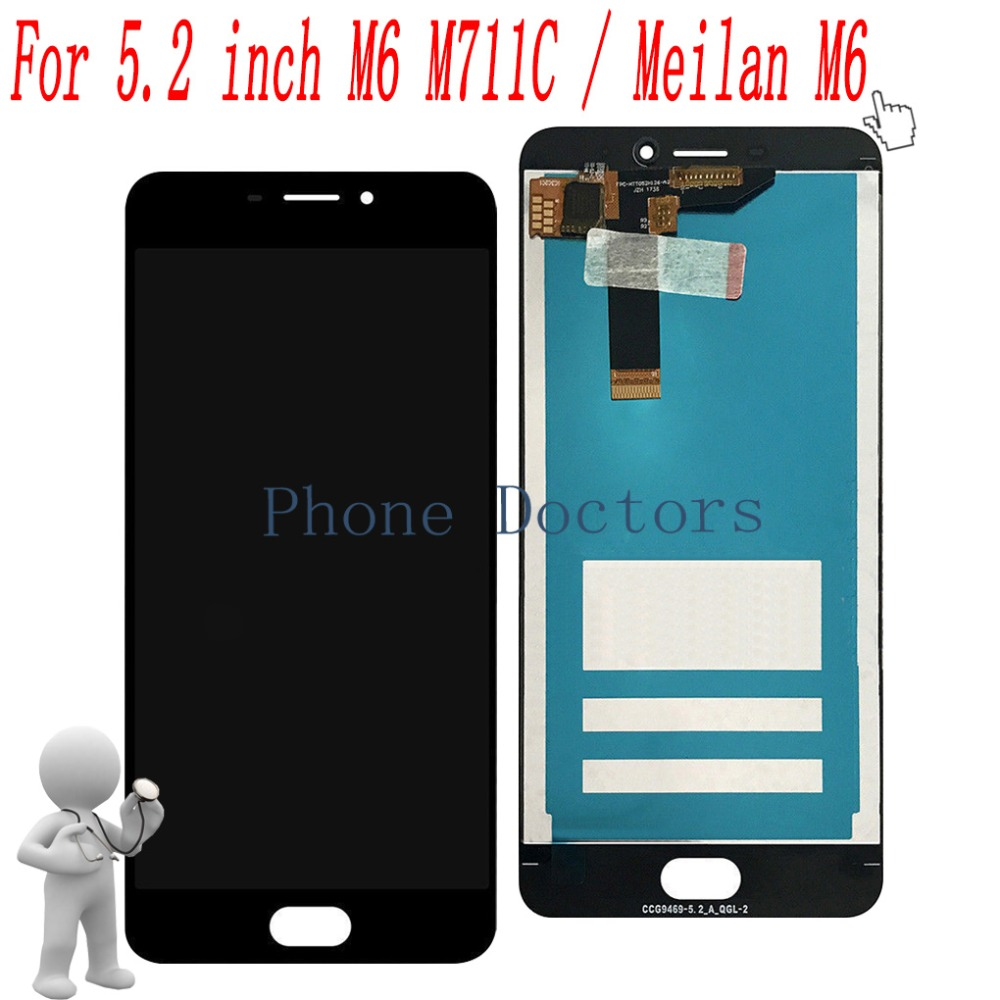 5.2 Full LCD DIsplay+Touch Screen Digitizer Assembly For Meizu M6 M711C / Meilan M6 M711Q M711M 100% Tested
