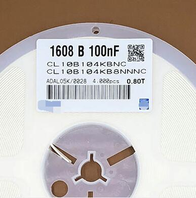 0603 chip capacitor 0.1UF 100nF 104K 10% 50V CL10B104KB8NNNC New and Original Fuse