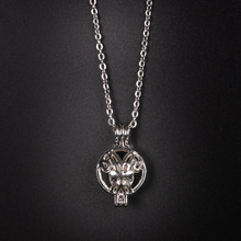 Round Silver Bowknot Pattern Locket Imitation Pearl Ball Bead Chain Necklace  Pendant Women Simple Fashion DIY Jewelry 22 12mm 13ecc1a9ccd0