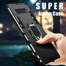 KEYSION Stoßfest Rüstung Fall Für Samsung Galaxy Note 10 S10 S9 S8 M30 M40 Ständer Halter Auto Ring Telefon Abdeckung für Samsung A80 A90