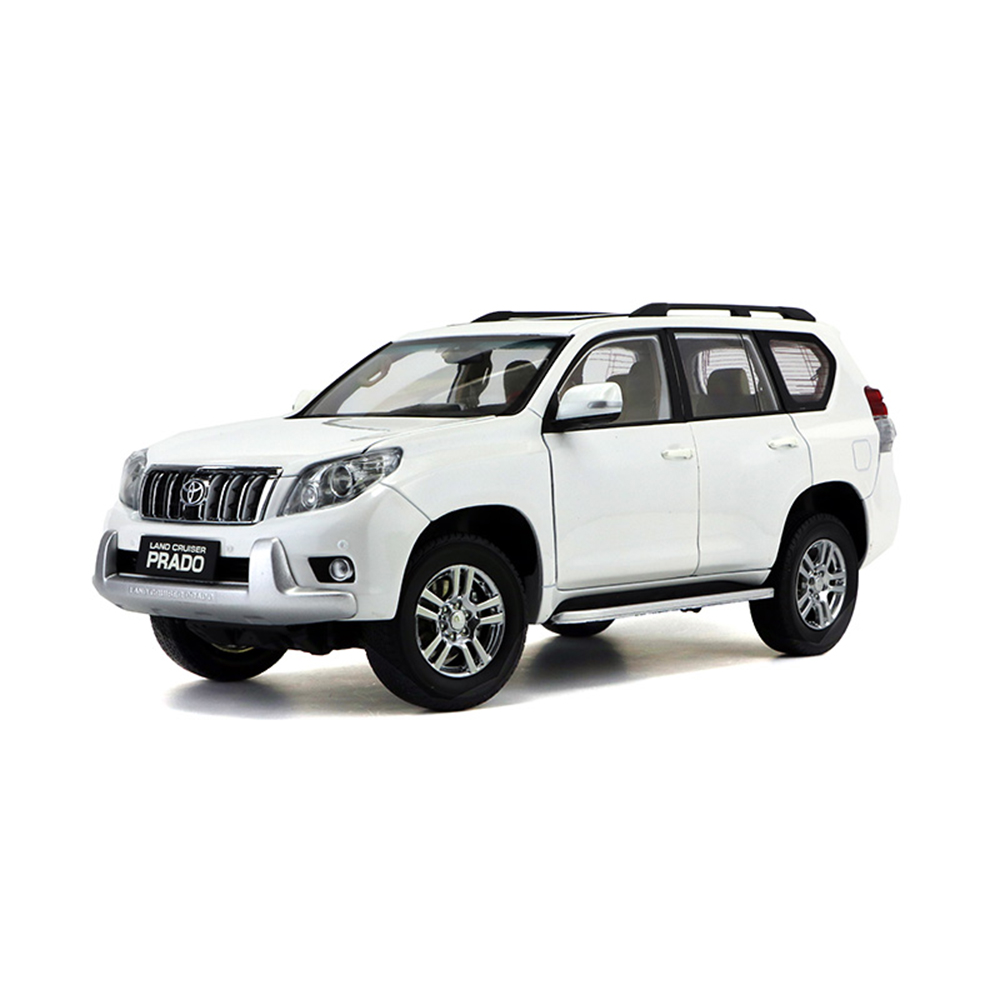 Scale 1:18 Toyota Land Cruiser Prado Diecast SUV Car Model Toys For Gifts Collection цена и фото
