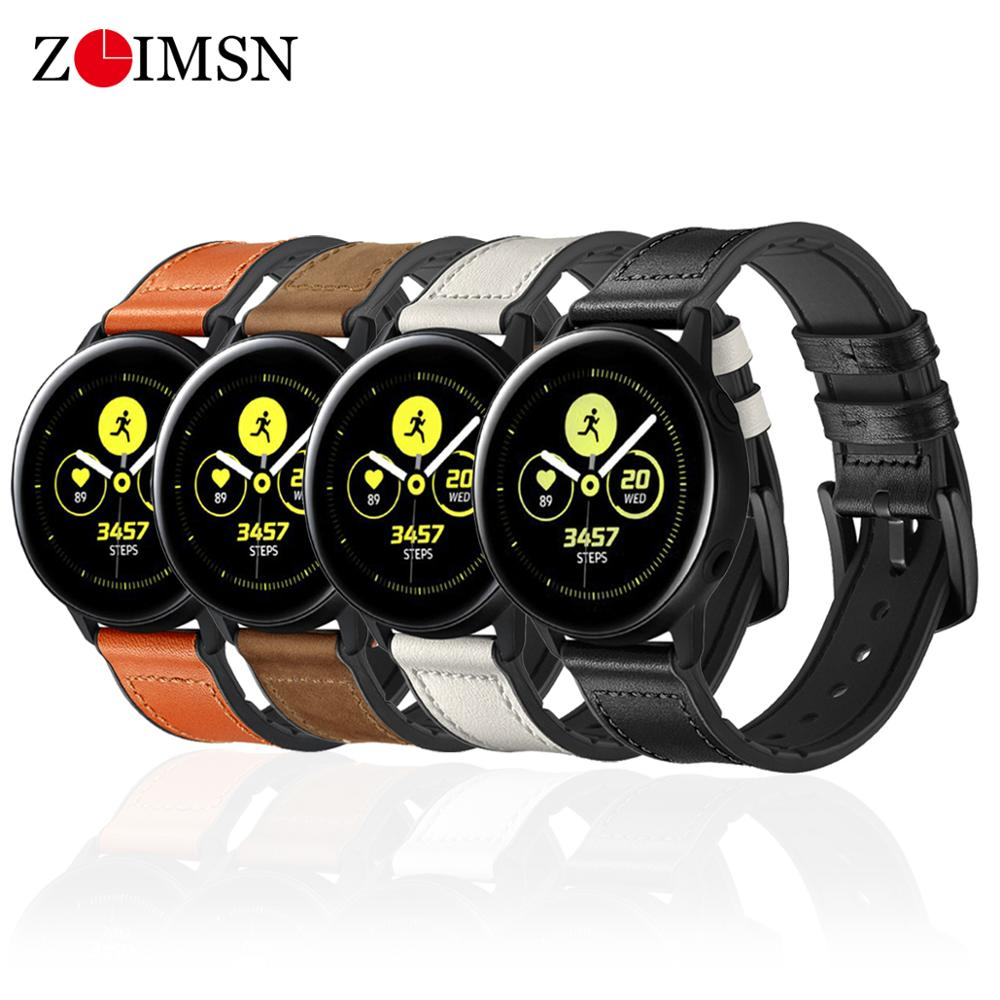 ZLIMSN Leather Watch Band For Samsung Galaxy Gear S3 S2 huawei watch gt amazfit strap 22mm Hybrid Rubber & Leather Strap