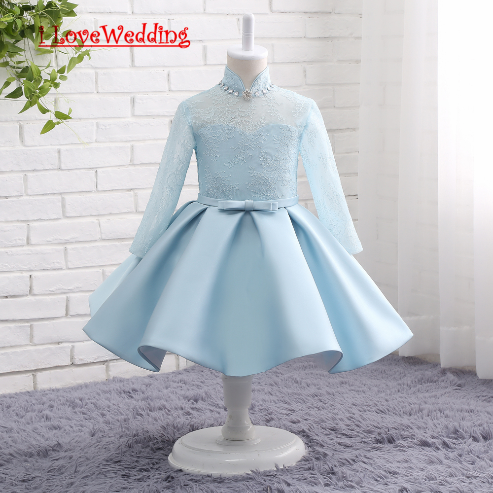 Ilovewedding stock new blue flower girl dresses for wedding pageant ilovewedding stock new blue flower girl dresses for wedding pageant mini children party kid communion dress with sashes 15816 izmirmasajfo