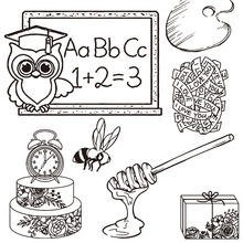 ZhuoAng Hot Models Silicone Clear Stamps Seal for DIY Scrapbooking/photo Album Decorative Craft Clear Stamp Chapter