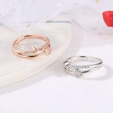 6bef25cbf42f Caliente venta de moda de joyería de las mujeres niñas baratijas envuelto  doble durazno corazón anillo-alma gemela para regalo e.