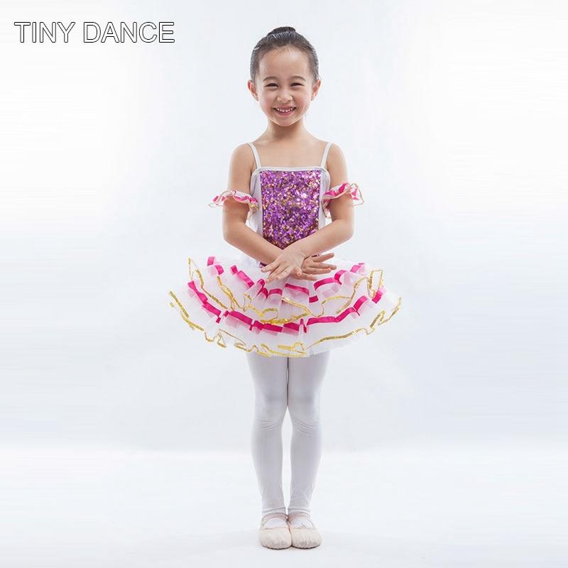 57a7bb4a48e5 Kids Sequin Ballet Dance Tutu Dress