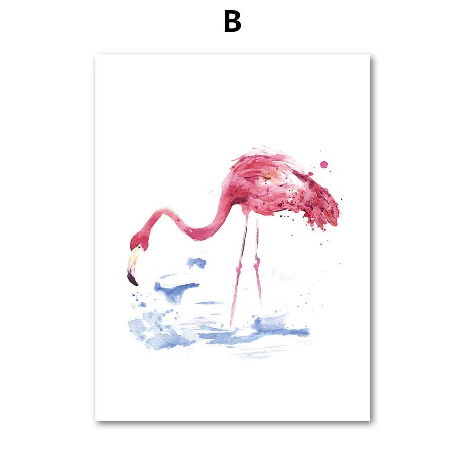 COLORFULBOY Flamingo Wall Art Canvas Slikanje nordijskim plakatima i - Kućni dekor - Foto 3