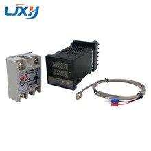 Cyfrowy regulator temperatury pid termostat REX C100 typ K sonda termoelektryczna przekaźnik SSR do kontroli temperatury grzałki