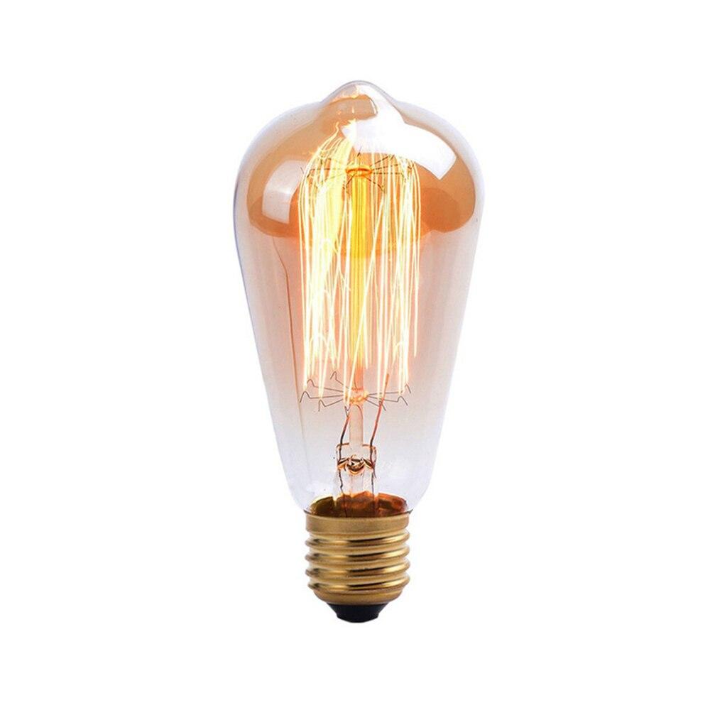 Купить с кэшбэком Halogen Bulbs Tubes retro vintage edison bulb e27 40w 220v ampoule vintage bulb edison lamp filament Incandescent light bulb led