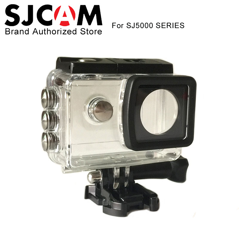 купить Original SJCAM SJ5000 Plus Waterproof Case Underwater Housing Diving 30M For sj cam SJ5000 wifi SJ5000X Elite camera Accessories недорого