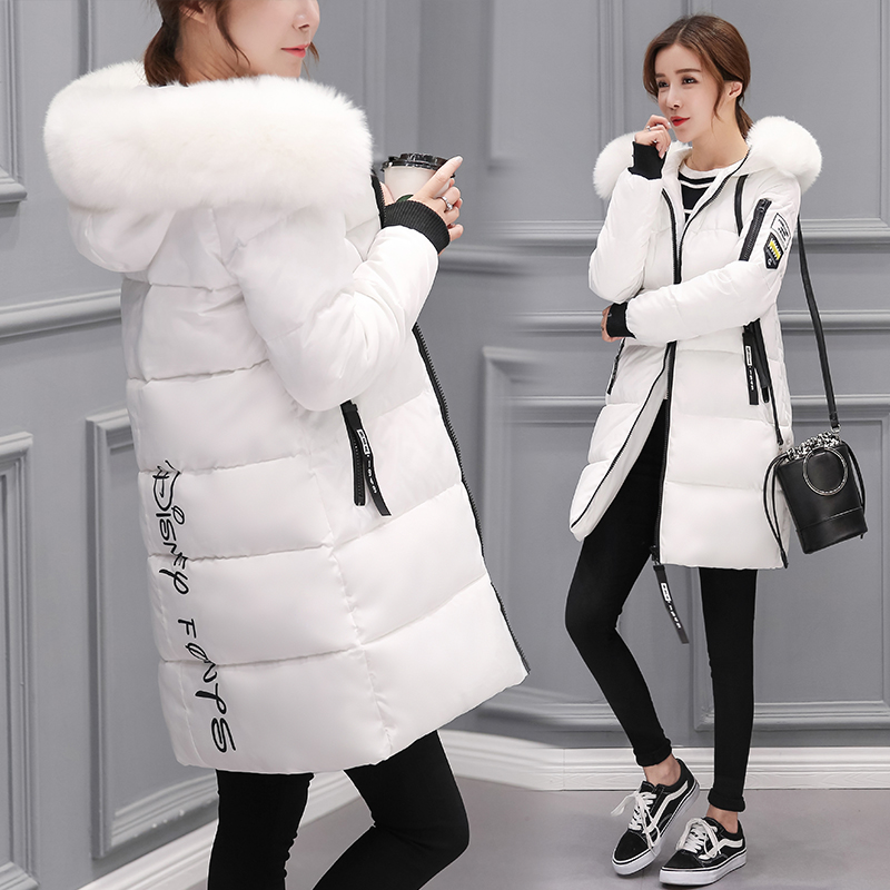 Hooded Fur Collar Winter   Down     Coat   Jacket Long Warm Women Casaco Feminino Abrigos Mujer Invierno 2019 Parkas Outwear   Coats   1111