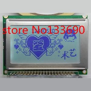 1pcs 5V WG12864B 128x64 75x52.7mm Dots Graphic Gray LCD Display module KS0107 KS0108 Compatible Controller New screen panel
