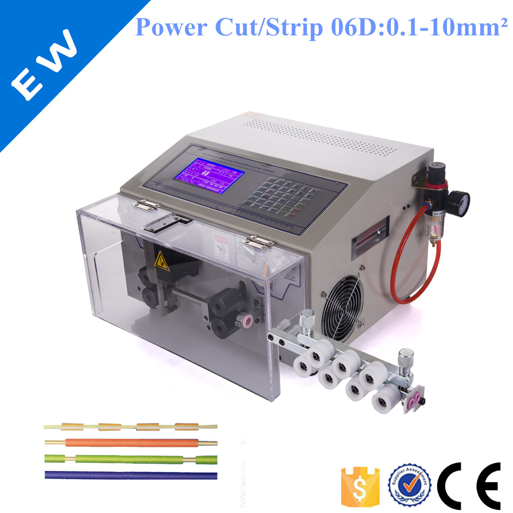 EW 06D Round sheathed automatic wire cutting and stripping machine ...