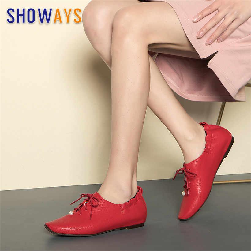 2019 brytyjskie kobiety perły oksfordzie PU skóra kwadratowy nosek gumką mieszkania koronkowa retro-up Casual biurowa, damska Brogues Dress Shoes
