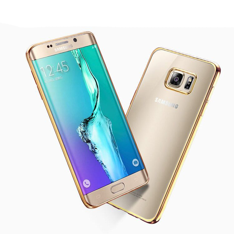 Noble Boutique Shop Luxury Plating Gilded TPU Silicone Case Cover For Samsung Galaxy A3 A5 A7 J1 J3 J5 J7 2016 2015 2017 S3 S4 S5 S6 S7 Edge S8 Plus