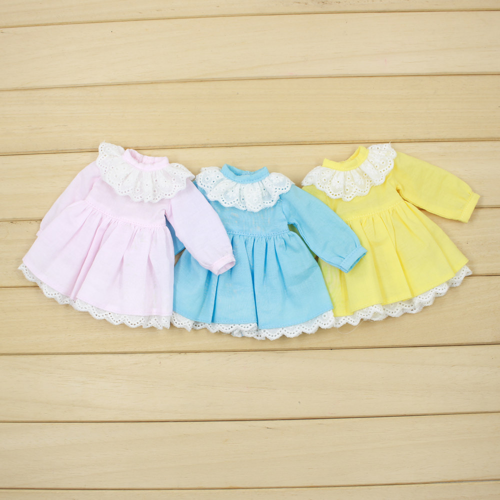 Fortune Days for 1/6 BJD Doll clothes 30cm Highly Three color princess dress High Quality Blyth reborn girls Toy Gifts