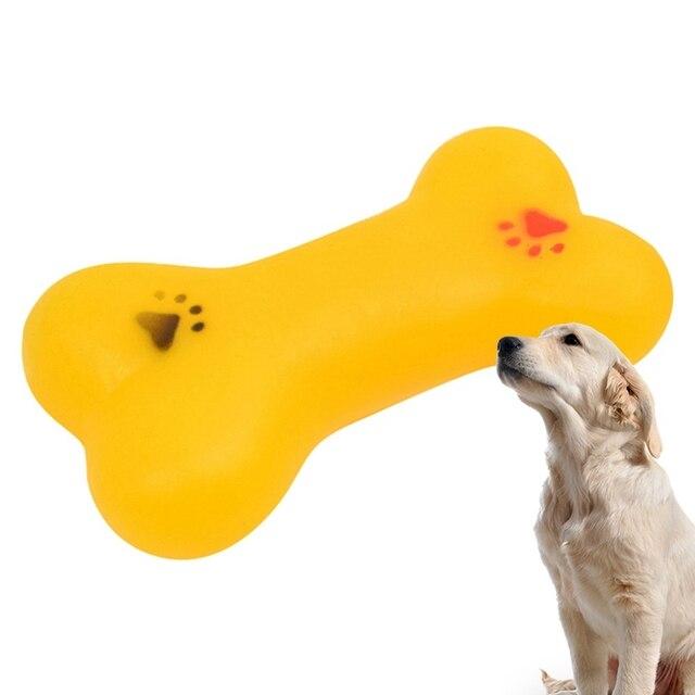 Resistente A Mordere Bone Cucciolo di Cane Molari Gioco Per I Denti di Formazione Palla di Gomma Plastica Termica In Gomma Pet Giocattoli Del Cane